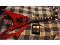 Jackson JS 1X Rhoads Minion Electric Guitar Ferrari Red