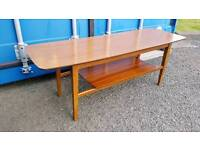 Cool Formica retro 60s coffee table with magazine rack