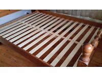 King size pine bed base in good condition