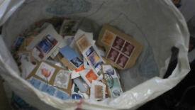 Large bundle of stamps
