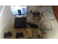 Xbox 360 with kinect & 2 games
