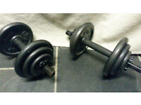 20kg Pro Power Dumbbell free weights, cast iron