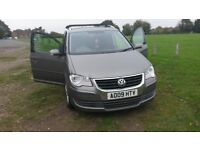 VW Touran SE TDI. 7 Seater. Re-mapped so now producing 170BHP