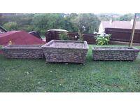 Original stone planters