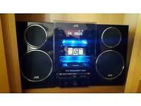 JVC stereo with I pod docking, CD player, radio, USB portal, MP3