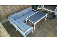 Garden furniture L shaped