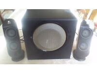 Logitech X-230 speaker system for PC in good condition.