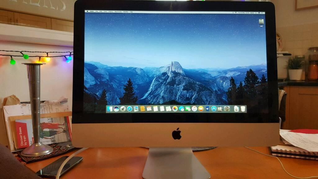 "Imac 21.5"" 1tb Hard drive. 4gb ram3.06ghz. Latest Mac OS Sierrain Hackney, LondonGumtree - Imac 21.5"" 1tb Hard drive. 4gb ram . 3.06ghz. Latest Mac OS Sierra. Very nice machine. Well looked after"