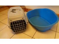 Medium Size Dog/Cat Bed and Pet Carrier