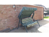 three seater garden swing chair