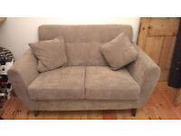 2 seater sofa, grey, excellent condition