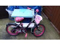16 inch wheel girls bike with basket