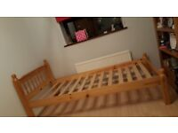 SINGLE WOODEN BED FRAME *GOOD CONDITION*