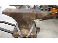Large antique anvil, 29 x 6 inches. Would make great ornamental statement!