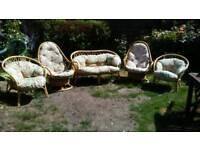 5 piece wicker conservatory/patio set