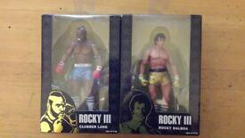 NECA Rocky III Rocky Balboa & Clubber Lang series 1 figures 40th anniversary