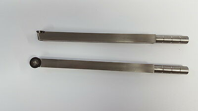 """Carbide Wood lathe Turning Tool with 16 mm round 9"""" long stainless steel"""