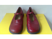 Lovely red camper mary jane flat shoes size 41. size 7/7.5 Worn but well looked after
