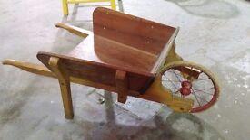Vintage Wooden Cart Toy