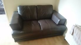 Large sofa an 2 seater leather sofas