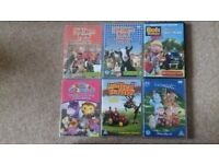 6 Various Children's DVDs