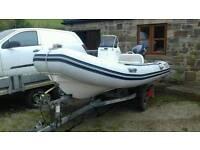 Valiant v 400 rib boat. Yamaha 25 hp