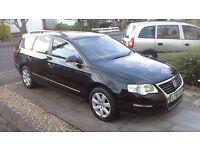 VW PASSAT 1.9 TDI ESTATE MANUAL BLACK 56 PLATE