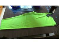 3/4 length leggings size 18 neon yellow/lime colour