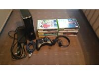 Xbox 360 with 16 games and 1 control and headset