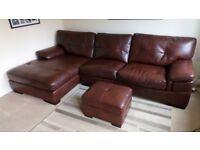 Composite leather corner sofa