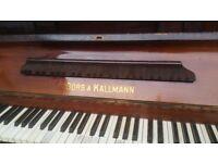 Upright piano made by Gorrs & Kallman