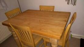 Lovely solid table and chairs