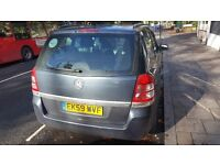 Vauxhall zafira 59reg 7 seater 1.6ltrs pco register with uber