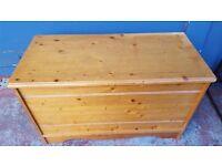 Pine Wooden Trunk / Toy Box / Blanket Box