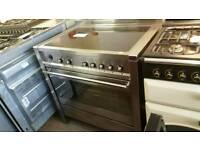 Smeg 90cm induction range cooker used hob once !!