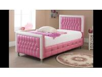 leather diamand bed with FREE mattress