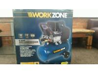 Workzone air compressor with powerful 2.5HP motor and 24 litre tank