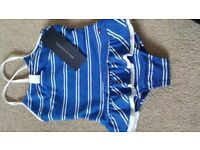 BNWT Blue and White Tommy Hilfiger size 18 months Swimsuit.