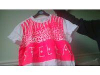 adidas stella t shirt size 8-10