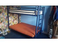 Bunk bed with double bed/sofa on the bottom