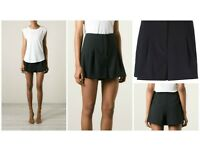 MICHAEL KORS SMART BLACK PLEATED SHORTS, US4, UK8/UK10 - SOLD OUT EVERYWHERE