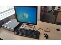 HP Compaq desktop PC, Viewsonic Monitor, Dell Keyboard and mouse