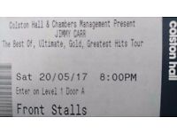 2x Front row jimmy carr tickets