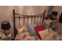 Black double bed frame. In excellent condition.