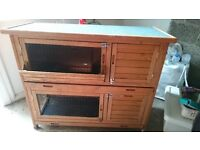 Rabbit hutch for 1 or 2 animals