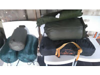 Two military tents and three sleeping bags