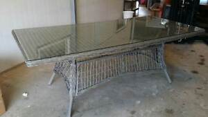 Large Wicker-Style Outdoor 8-Seater Table - Nearly Perfect Yarrawonga Palmerston Area Preview