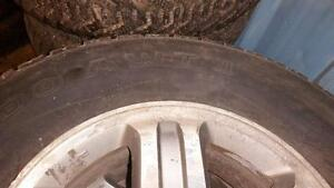 P235/70R16 M&S Radial tire on alloy wheels.