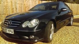 Mercedes-Benz CLK Coupe Black with black leather. Great condition, low milage.