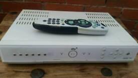 Sky + box with remote control.